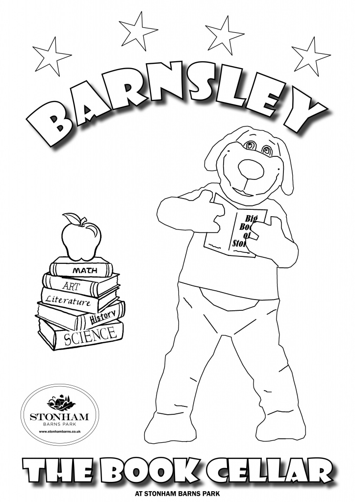 Colouring A4 Barnsley Reading A Book Stonham Barns
